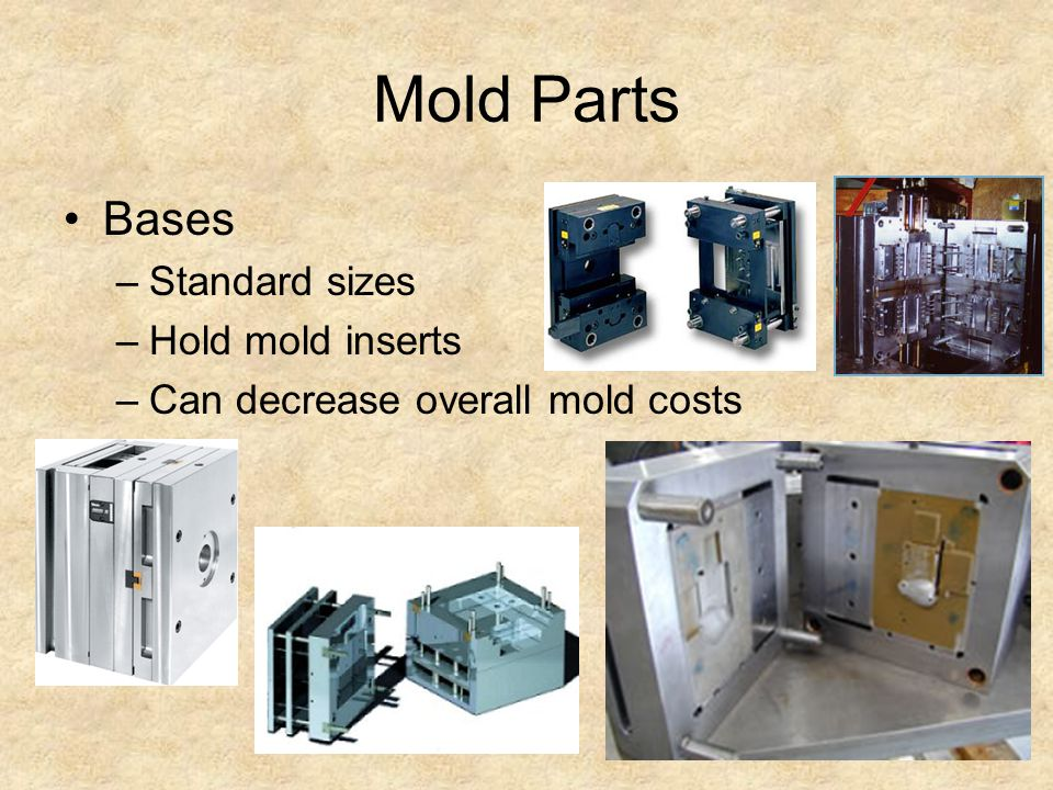 Mold Parts Bases Standard sizes Hold mold inserts