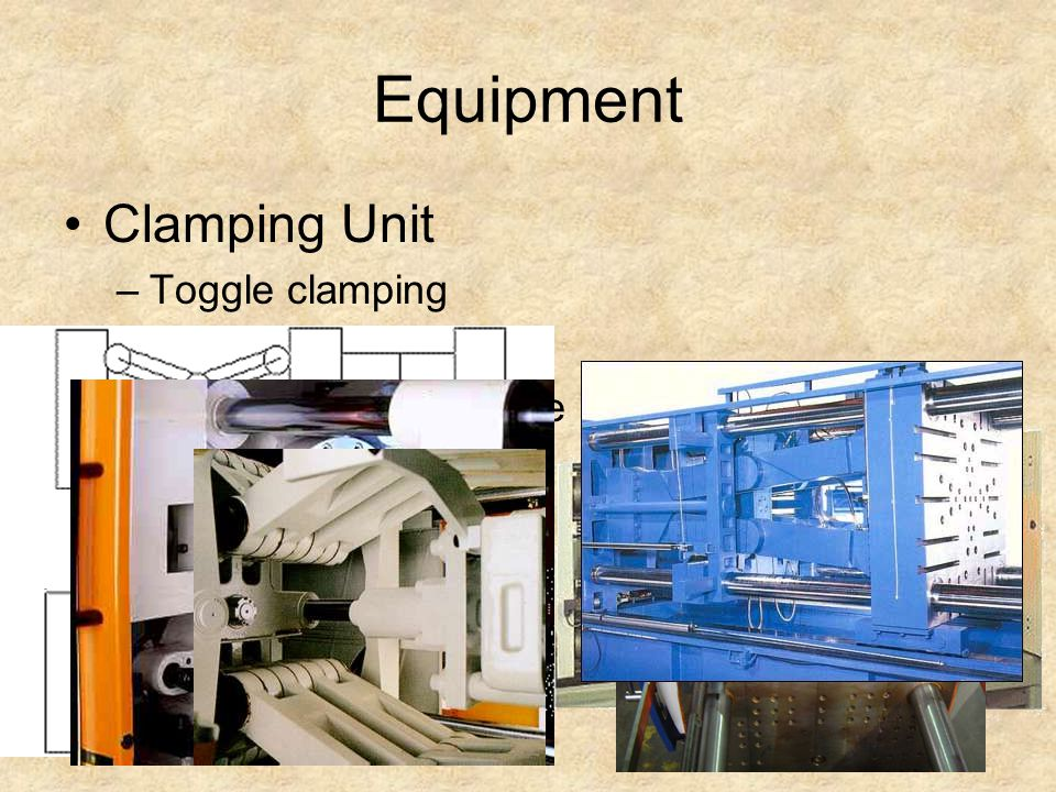 Equipment Clamping Unit Toggle clamping Hydraulic clamping