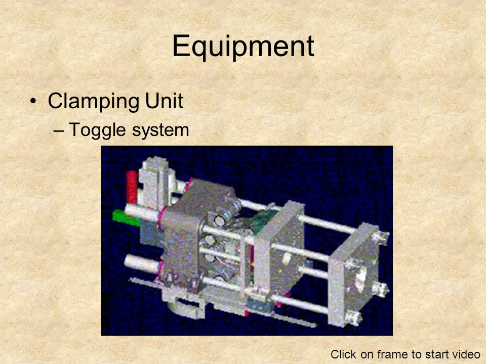 Equipment Clamping Unit Toggle system Click on frame to start video