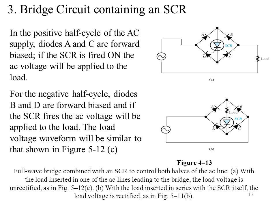3. Bridge Circuit containing an SCR