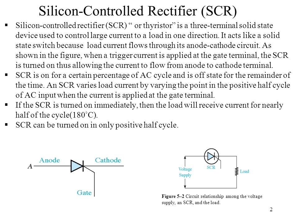 SCR can be turned on in only positive half cycle.