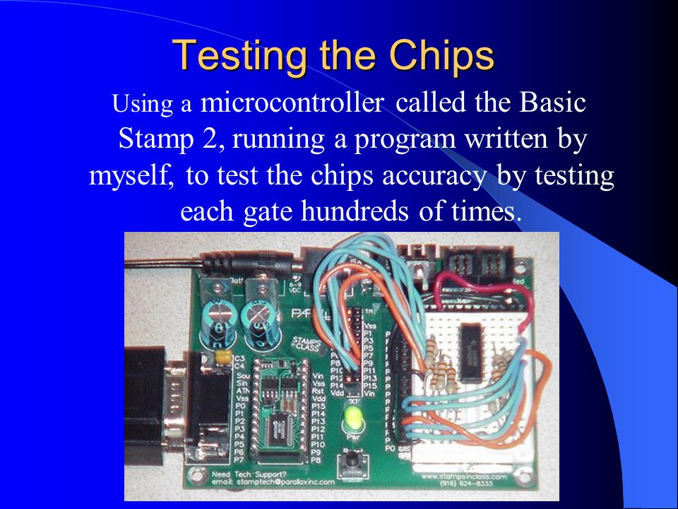 Testing the Chips