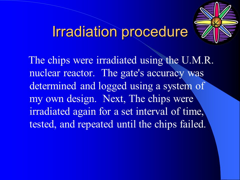 Irradiation procedure