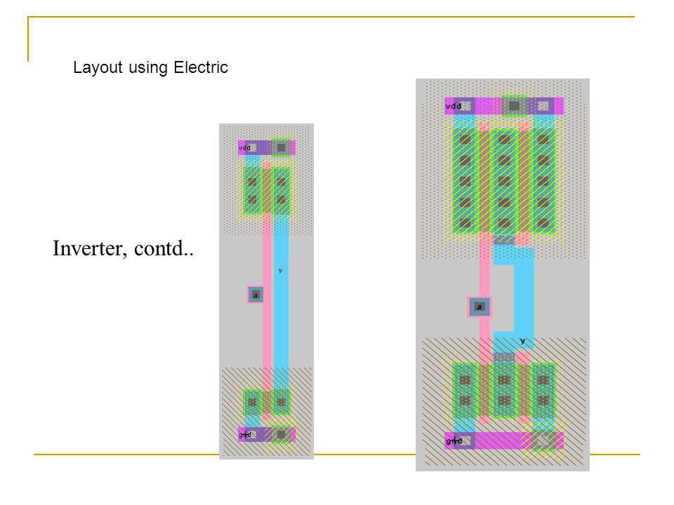 Layout using Electric Inverter, contd..
