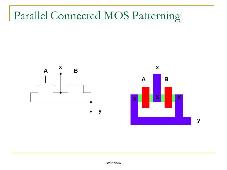 Parallel Connected MOS Patterning