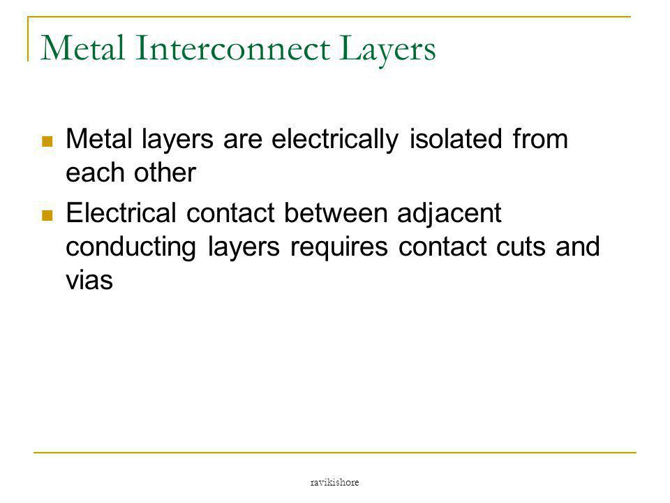 Metal Interconnect Layers