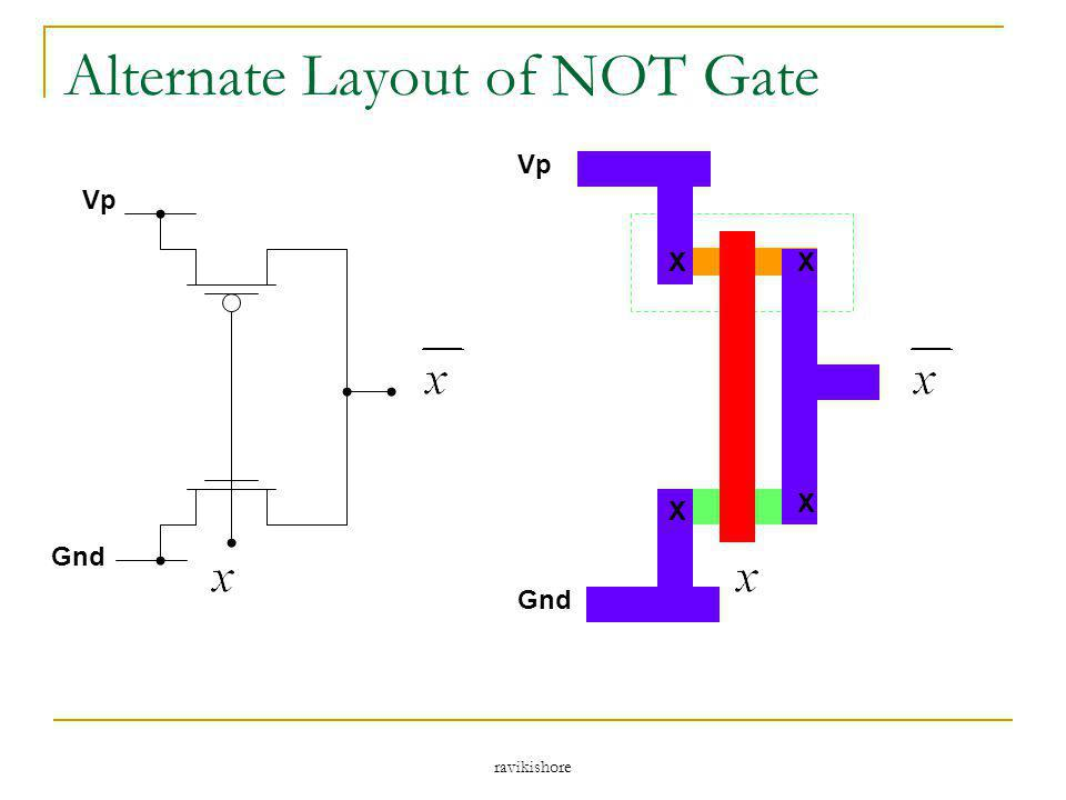 Alternate Layout of NOT Gate