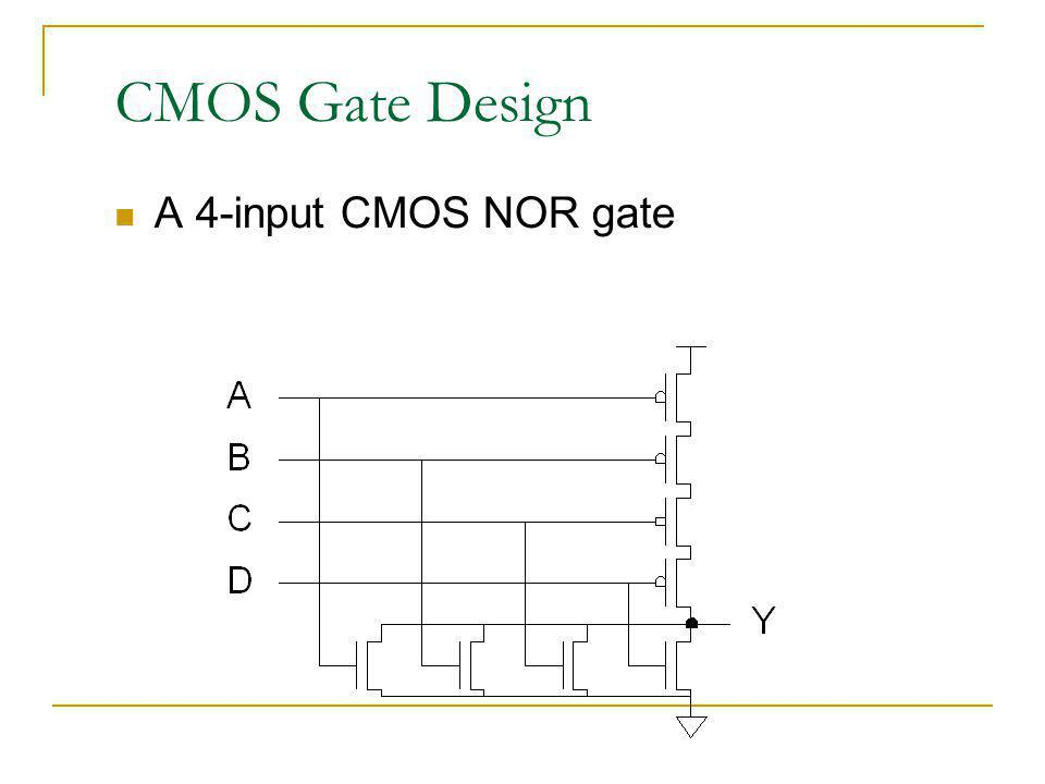 CMOS Gate Design A 4-input CMOS NOR gate