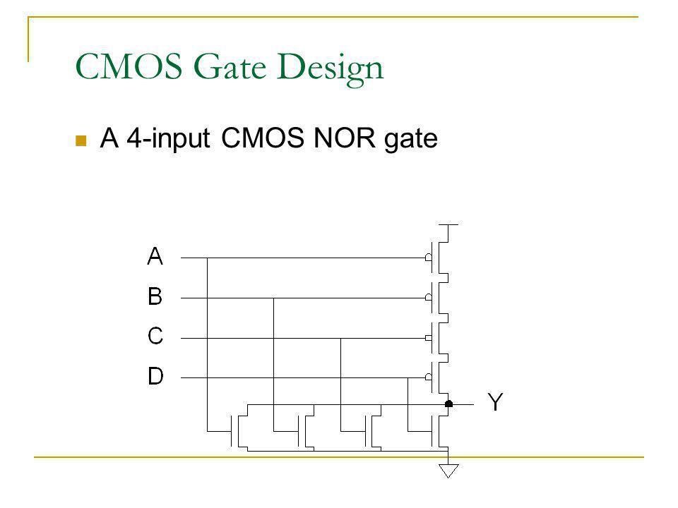 CMOS Gate Design A 4-input CMOS NOR gate