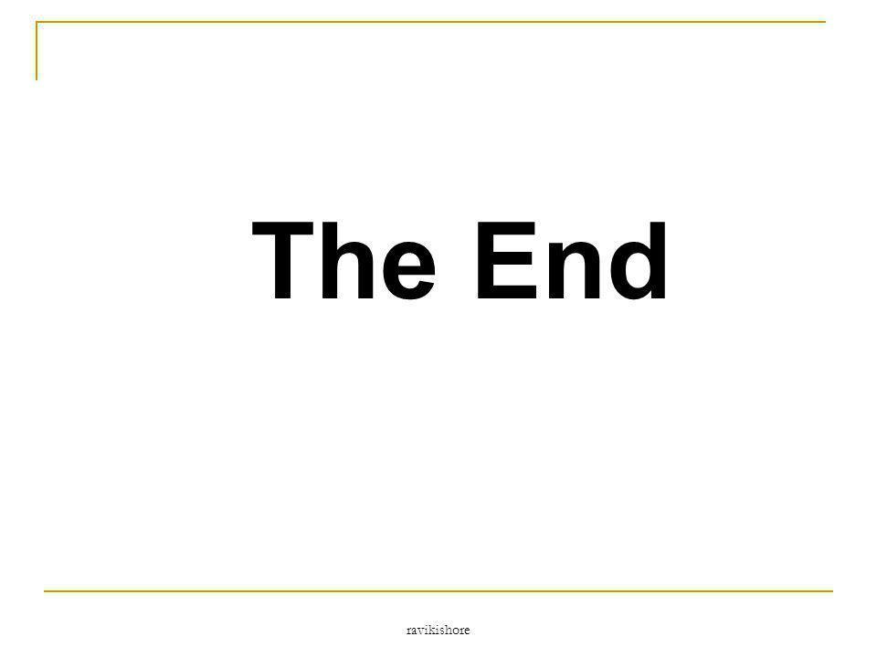 The End ravikishore