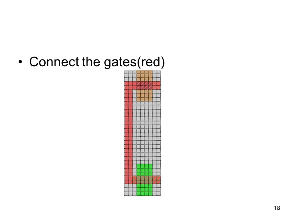 Connect the gates(red)