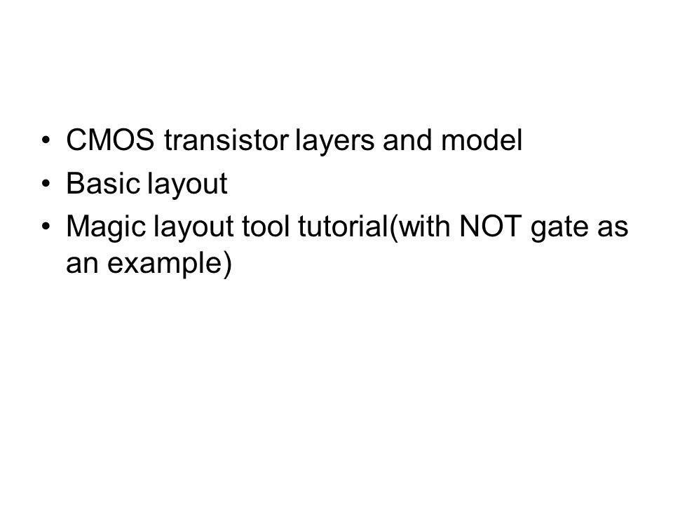 CMOS transistor layers and model