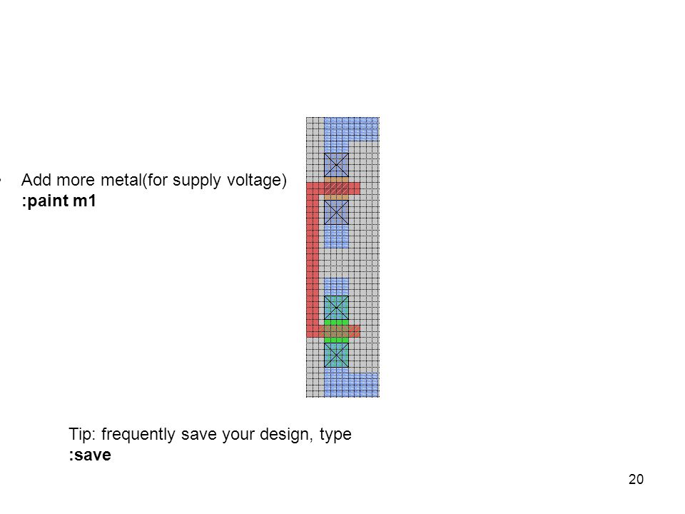 Add more metal(for supply voltage) :paint m1