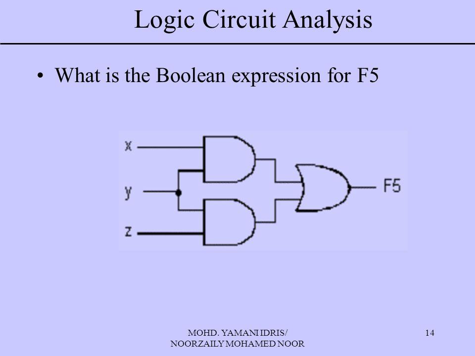 Logic Circuit Analysis