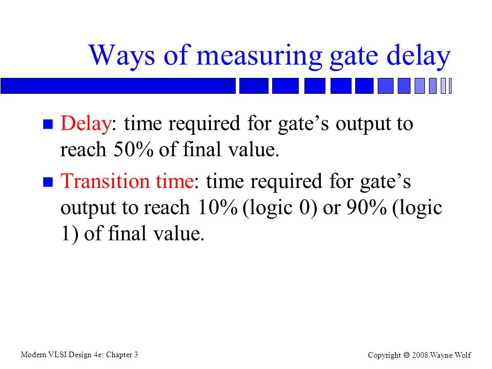 Ways of measuring gate delay