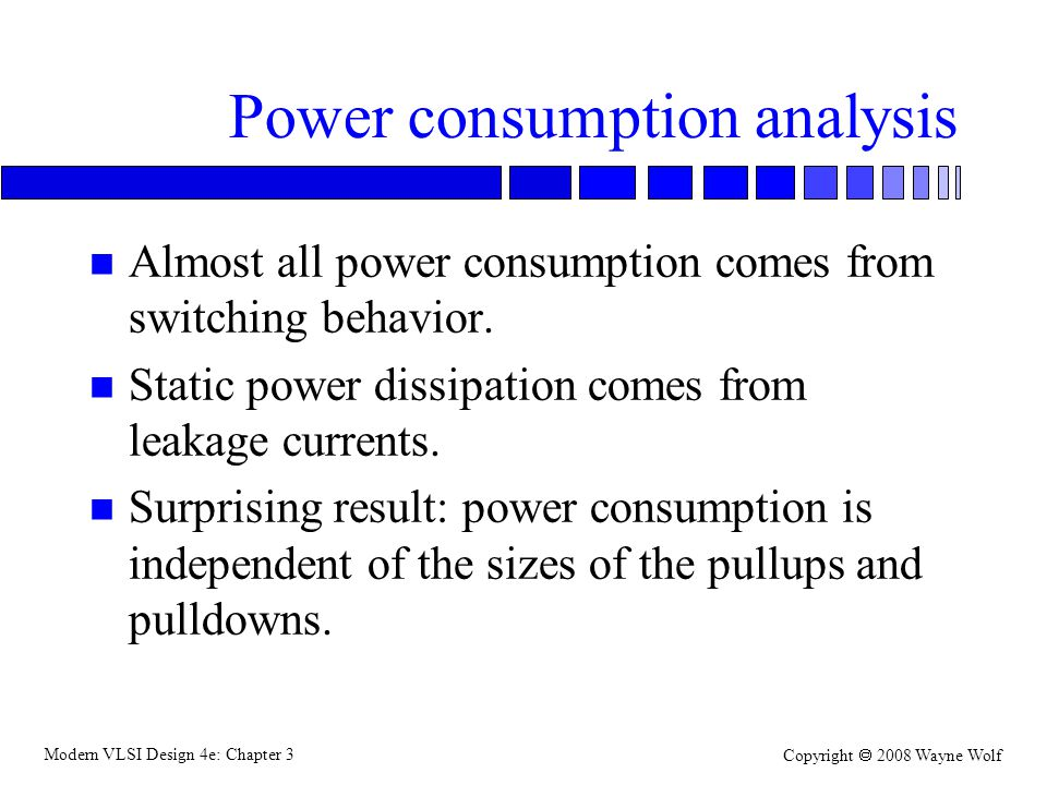 Power consumption analysis