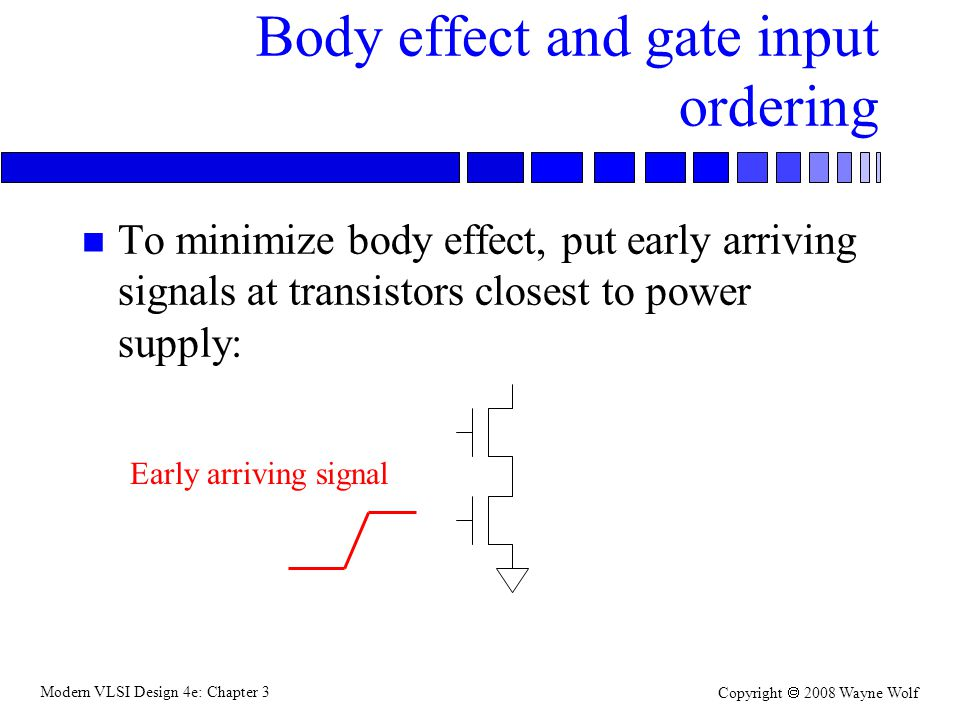 Body effect and gate input ordering