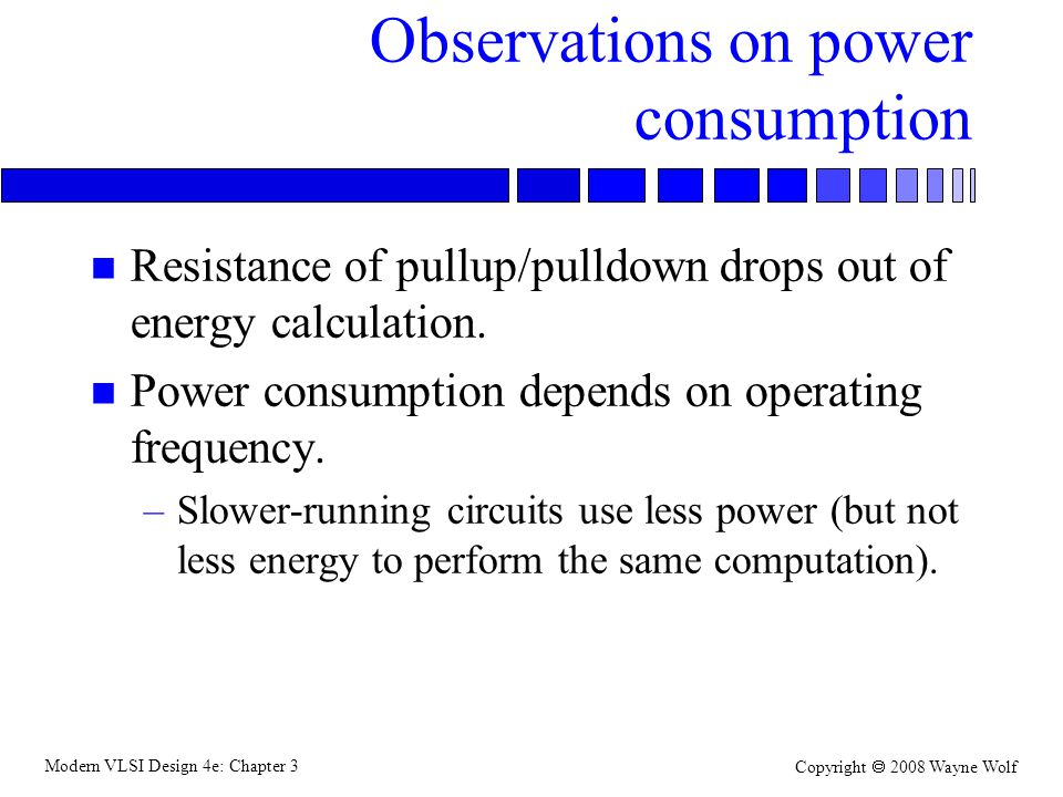 Observations on power consumption