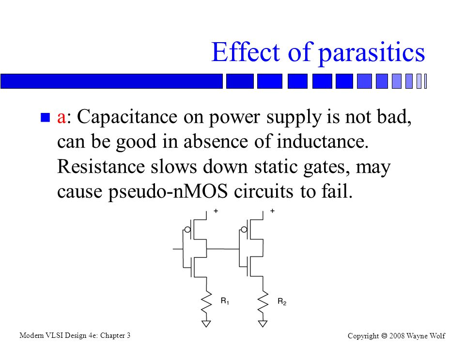 Effect of parasitics