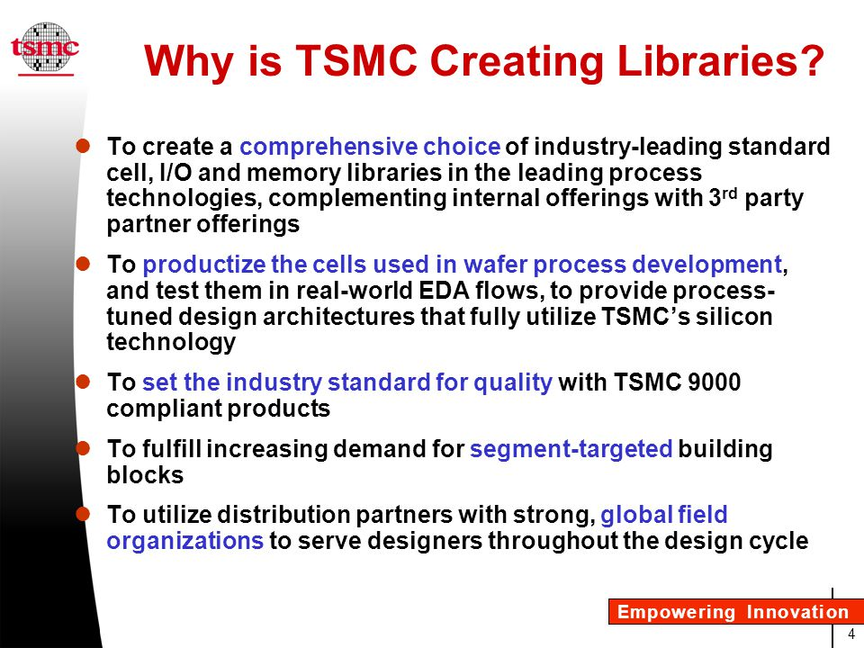 Why is TSMC Creating Libraries