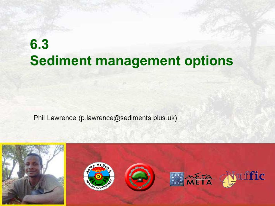 6.3 Sediment management options