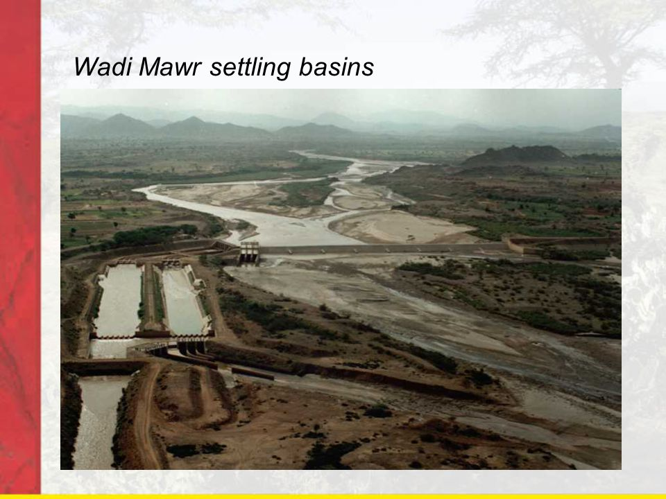 Wadi Mawr settling basins