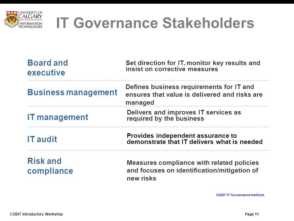 IT Governance Stakeholders