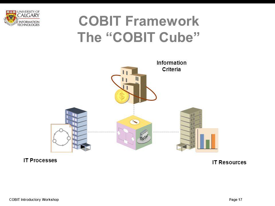 COBIT Framework The COBIT Cube
