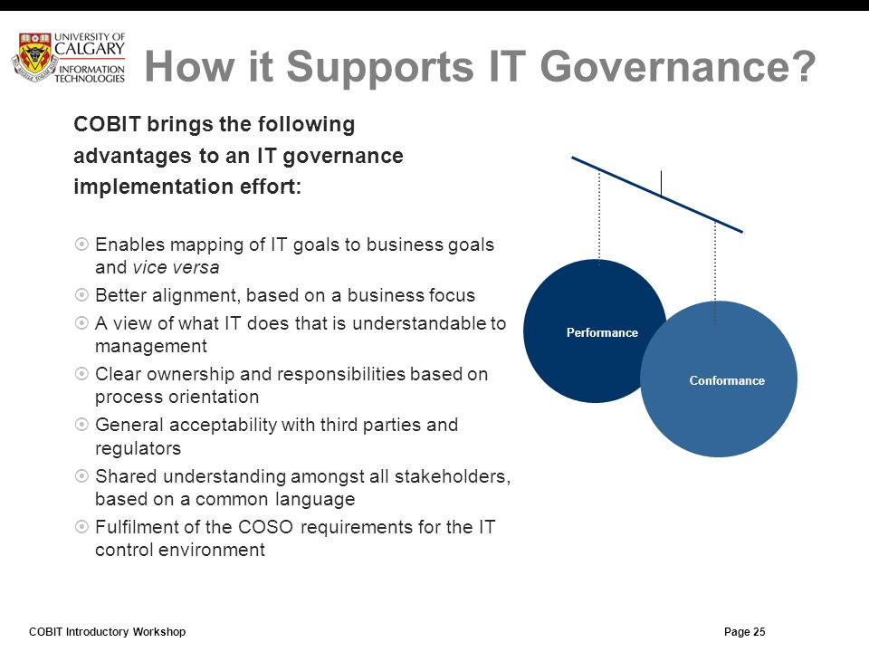 How it Supports IT Governance