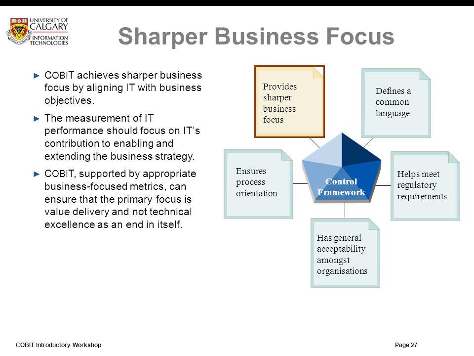 Sharper Business Focus