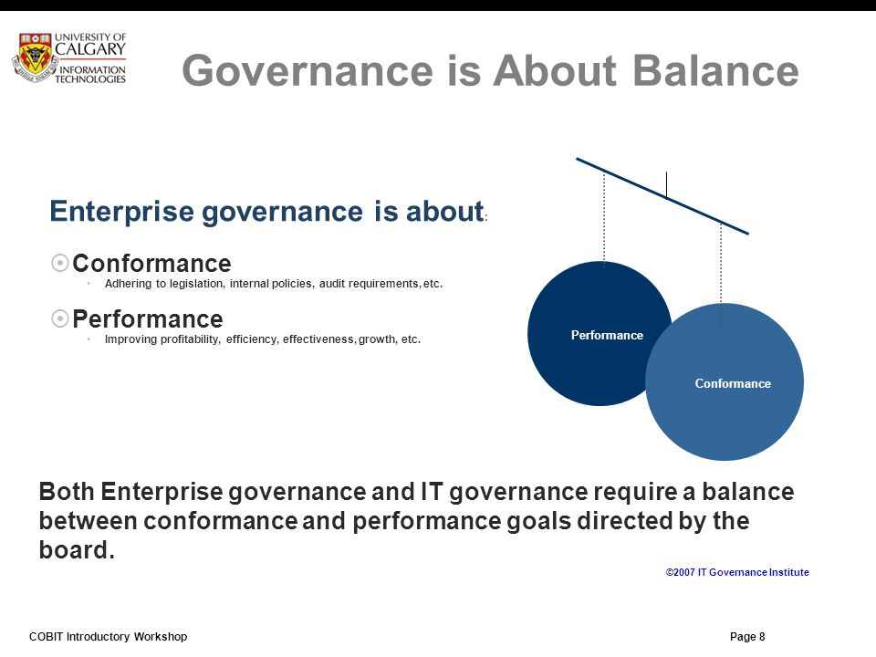 Governance is About Balance