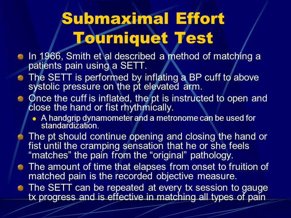 Submaximal Effort Tourniquet Test