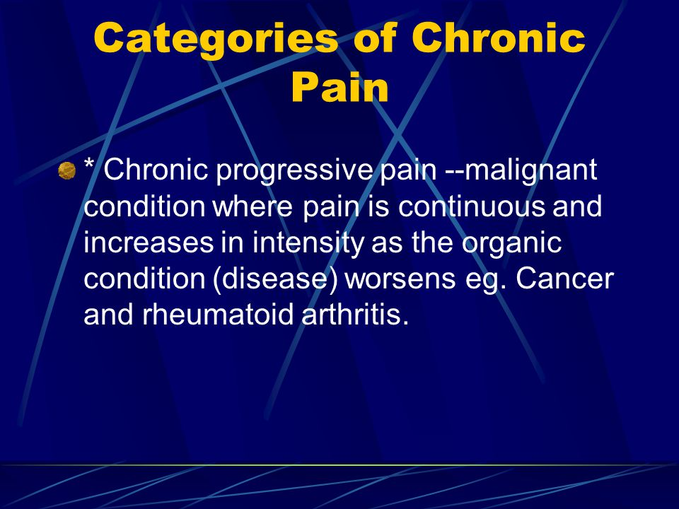 Categories of Chronic Pain