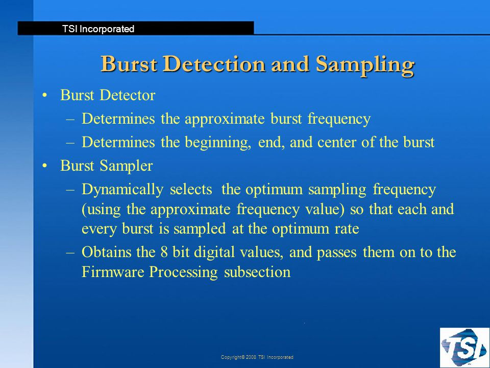 Burst Detection and Sampling