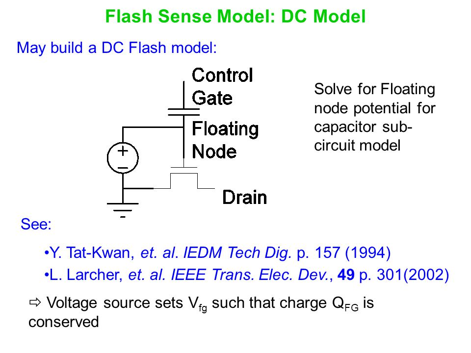 Flash Sense Model: DC Model