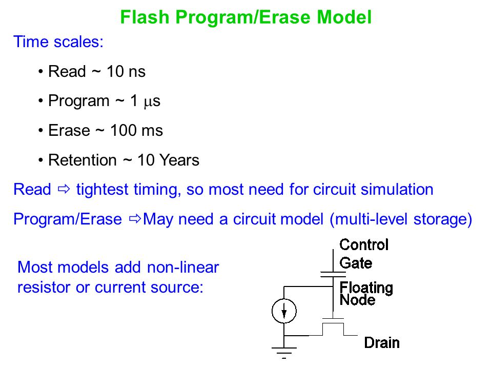 Flash Program/Erase Model
