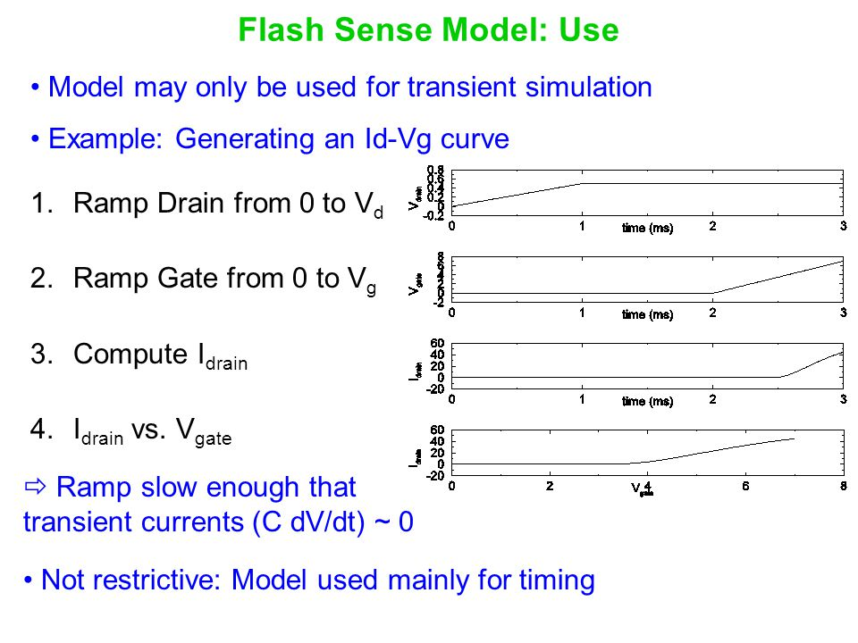 Flash Sense Model: Use Model may only be used for transient simulation
