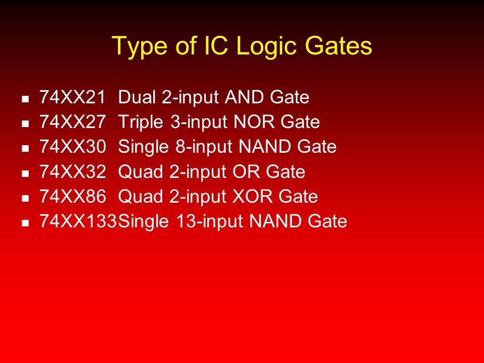 Type of IC Logic Gates 74XX21 Dual 2-input AND Gate