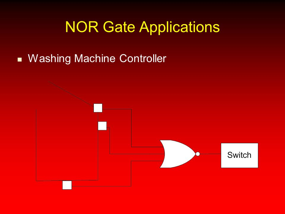NOR Gate Applications Washing Machine Controller