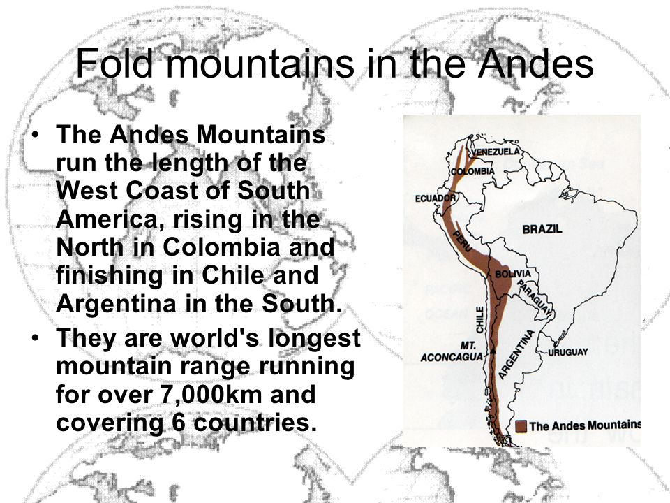 Fold mountains in the Andes