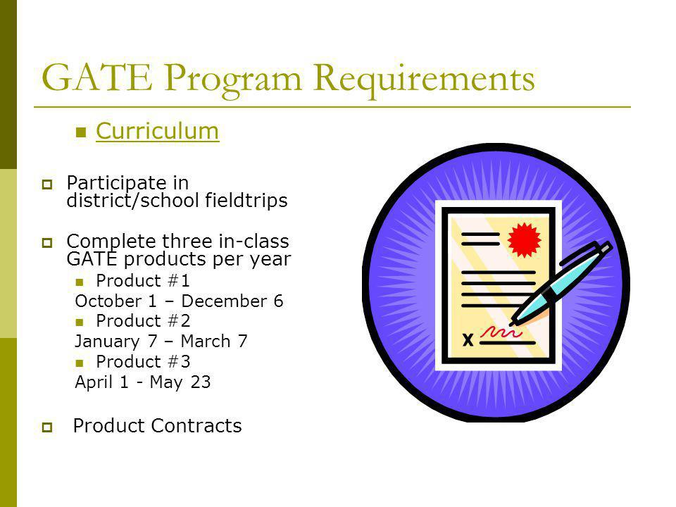 GATE Program Requirements