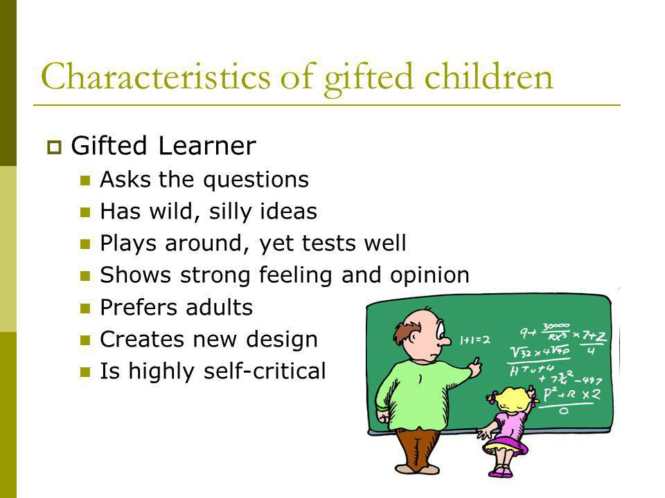 Characteristics of gifted children