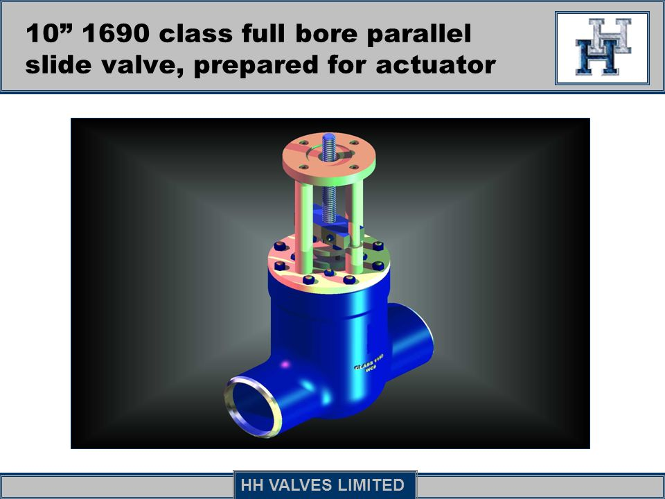10 1690 class full bore parallel slide valve, prepared for actuator