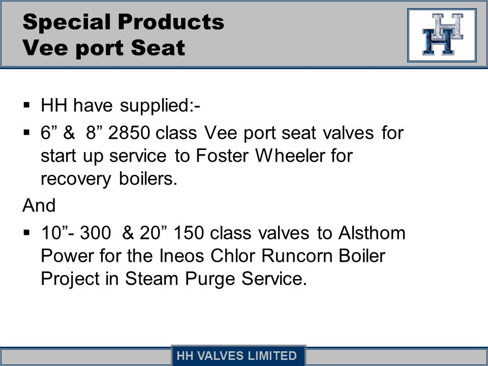 Special Products Vee port Seat