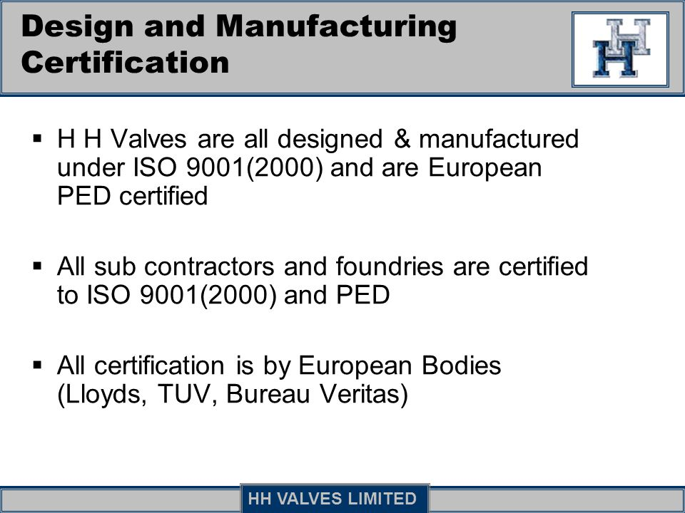 Design and Manufacturing Certification