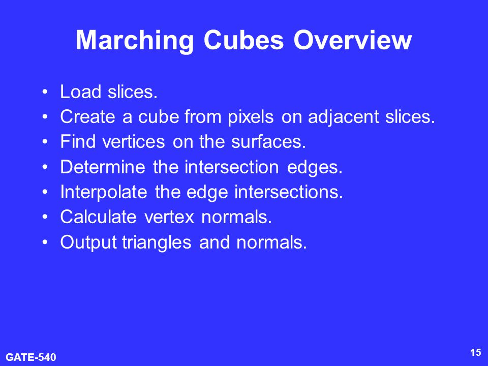Marching Cubes Overview