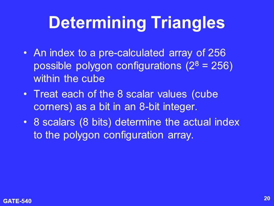 Determining Triangles