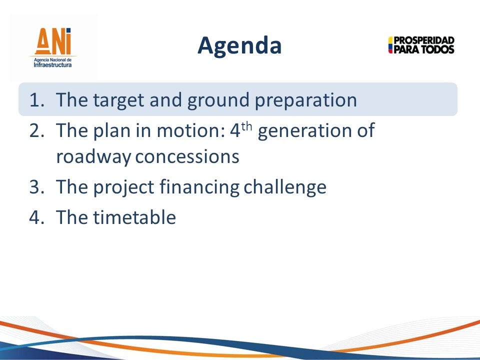 Agenda The target and ground preparation