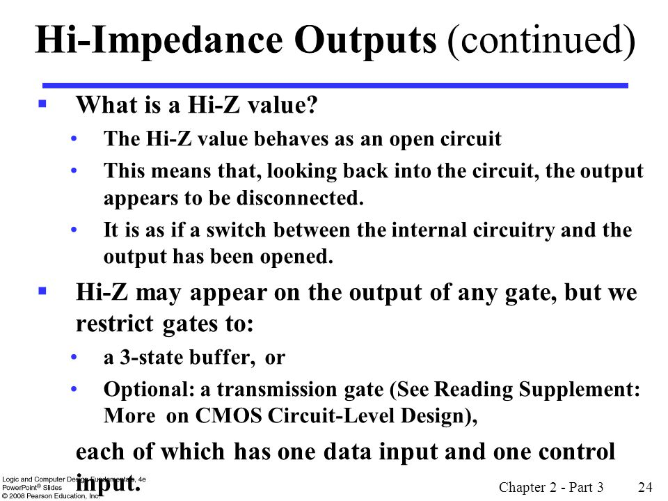 Hi-Impedance Outputs (continued)