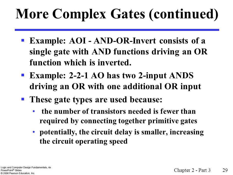 More Complex Gates (continued)